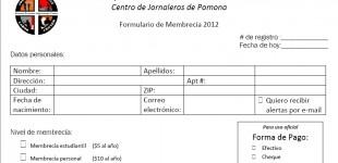 Campaña de Membrecía - Membership Campaign 2012