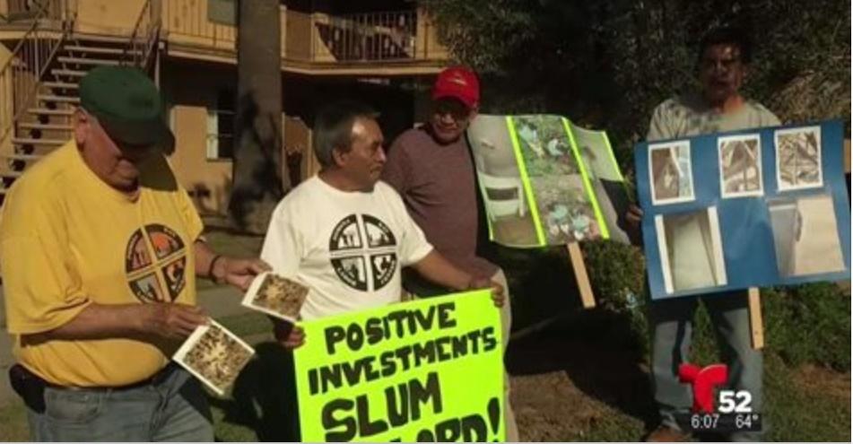 Protesta de inquilinos por alza de renta en Pomona (video)
