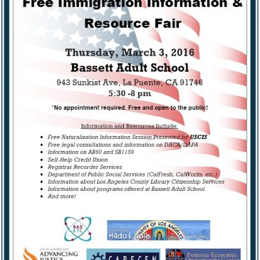 Immigration Resource and Information Fair, March 3 in Bassett